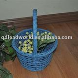 popular painted willow/wicker basket with handle