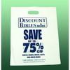 LDPE white printed Plastic shopping Bag/Promotion Bag/Merchandise bag/Die cut handle bag/Punch out handle bag