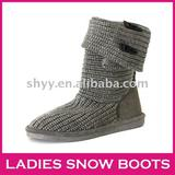 Hot sales snow boot fashion new knitted ladies winter boots