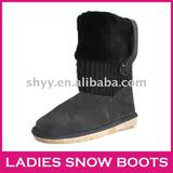 Most popular knitted boots button special  women's snow boot