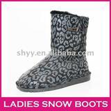 Hot popular women's snow boot Leopard nice winter boot