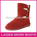 Cheap genuine leather snow boot winter fashion lady boot