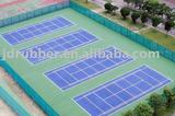 acrylic acid rubber mat sports court (tennis court)