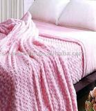 Rose flocking blanket