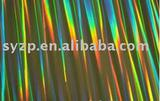 holographic laser metallized paper for wrapping