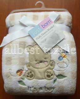 coral fleece polyester baby blanket