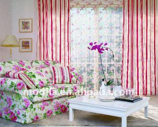 big flower pigment printing curtain fabric