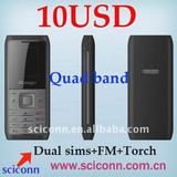 Low cost quad band phone M100 with 10USD