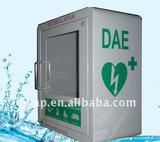 Defibrillator AED Cabinet,Round top AED wall cabinet with alarm