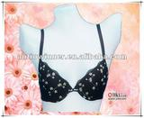 Lady's fashion embroidered bra