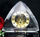 Crystal clock,optical glass clock,home decoration,visible movement