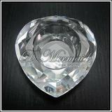 Clear hreat crystal glass candle holder,crystal wedding decoaration