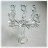 Beautiful wedding crystal glass candelabra