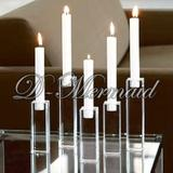Crystal candle holder ,K9 clear crystal candlestick