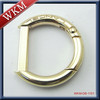 gold logo printed spring D buckle
