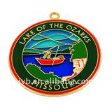 Soft enamel metal medal for souvenirs