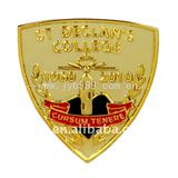 Metal gold plated college badges