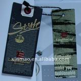 fashion printed paper hang tag for garment