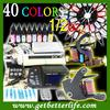 FREE SHIPPING Tattoo Kit 40 Ink 2 Machine Gun LCD Power Needle (WS-K810)