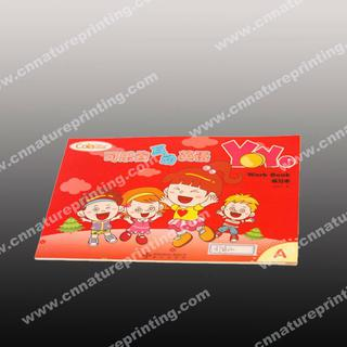 Softcover book printing company for school book with CD Flister