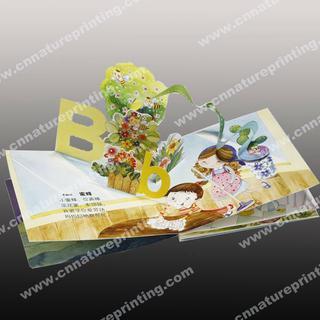 Children cardboard book printing,binding 3d book