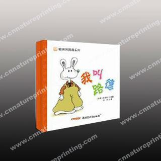 White cardboard books for kid with animal pictures