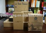 2011 glitter kraft paper packaging box