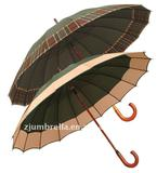 "25""x16k wooden straight umbrella"