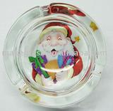 decal glass ashtray