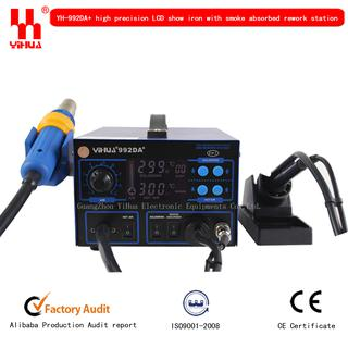 2 In 1 Smd Hot Air Soldering Station <b>Yihua 992da+</b>,with Vacuum ...
