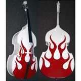 2015 Fashion New Flame Pattern Double Bass