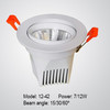 Novel COB LED ceiling spotlight, 24 degrees beam angle LED spotlight 7W 12W