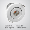3W Swivel LED spotlight 45mm diameter hole size