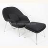 Saarinen Womb chair replica in black cashmere