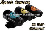 2012 hd 720p waterproof dv action camera Record video and sound