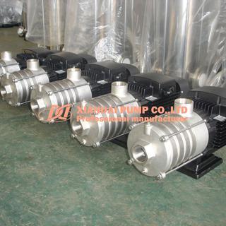 Horizontal multi-stage pump