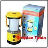 Portable rechargeable solar led camping light