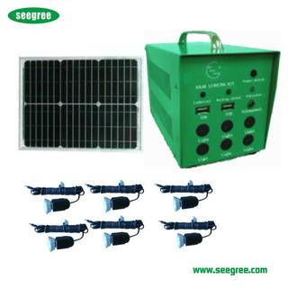 kit solar de iluminacion de led