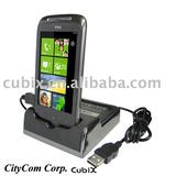 for HTC Mozart Chrome power and data sync Cradle Docking Station
