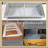 horizontal freezer glass door in supper market