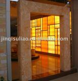 Translucent stone panel