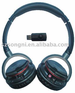 2.4G wireless headphone with MIC
