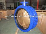 Big Casting flange butterfly valve with Al-Cu disc