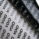 Voidable chrome tamper evident decals