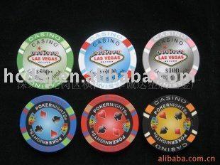 3-tone casino poker chip