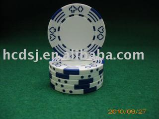 Poker and Stripes poker chip