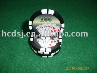 Sticker poker chip