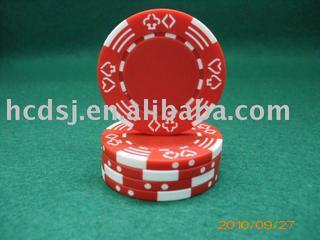 Double poker pattern chips