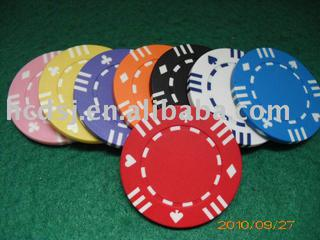 poker suite chip with 12stripes