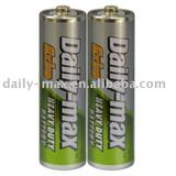 R6P dry battery with metal jacket